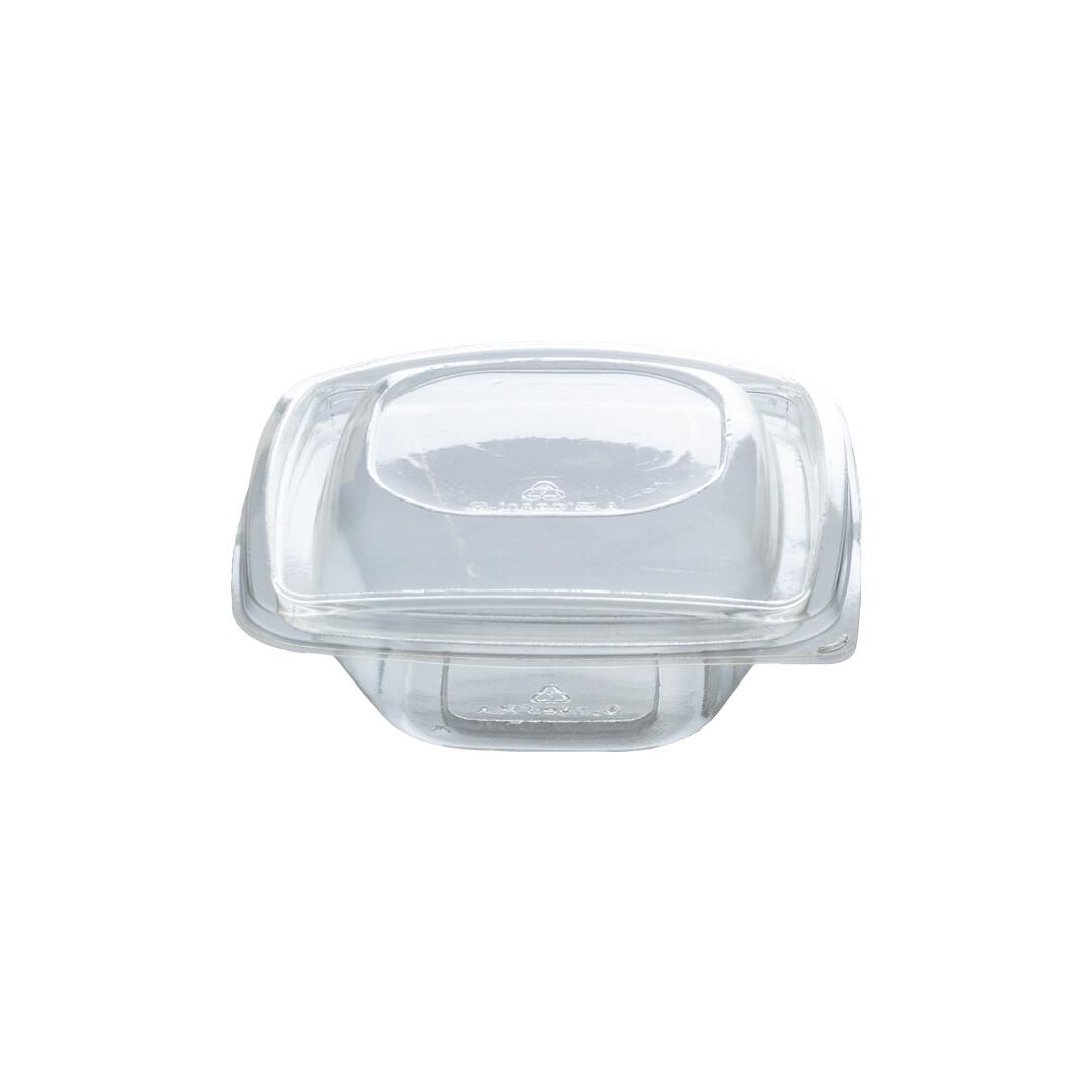 PLA saladebakje + deksel transparant 240ml, verpakt per 360 stuks