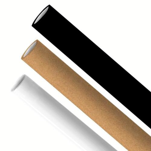Premium papieren rietjes 6x200mm zwart, wit, kraft mix assortiment, verpakt per 5000 stuks