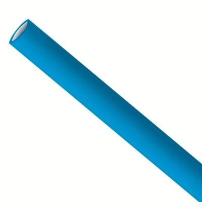 Pailles en papier 6x200 mm bleu clair, emballées par 5000 pièces