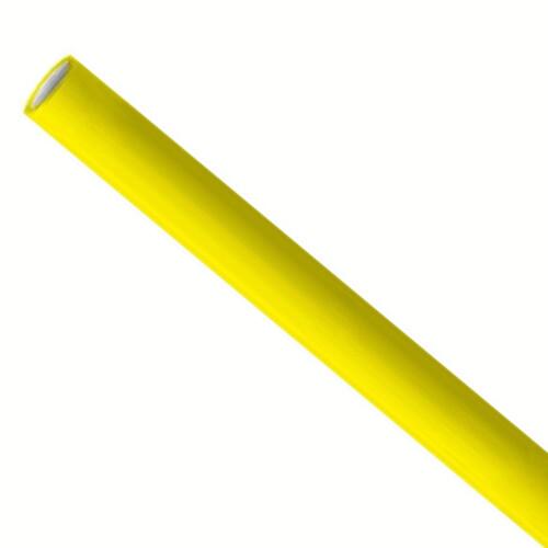 Papieren rietjes 6x200mm geel, verpakt per 5000 stuks