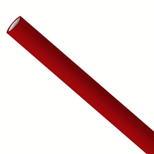 Premium papieren rietjes 6x200mm bordeaux rood, verpakt per 500 stuks