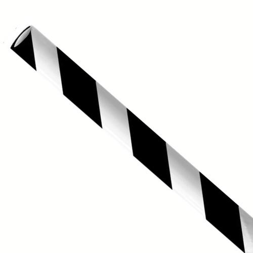 Rietjes 8x240mm zwart/wit