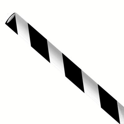 Rietjes 6x197mm zwart/wit