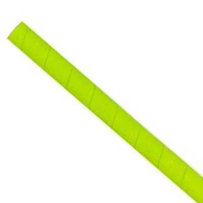 Straws 6x200mm lime green, packed per 5000 pieces