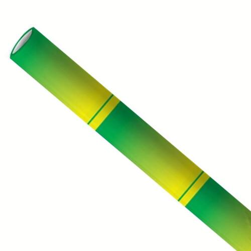 Premium papieren rietjes 6x200mm bamboe groen, verpakt per 5000 stuks