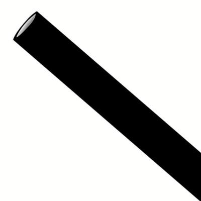 Rietjes 6x197mm zwart, verpakt per 500 stuks
