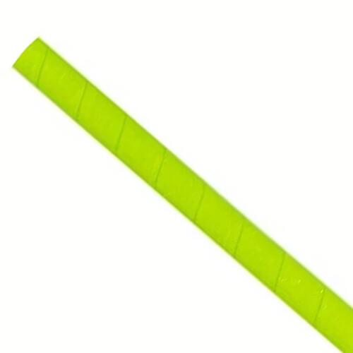 Papieren rietjes 8x240mm groen, verpakt per 250 stuks