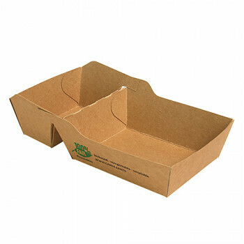 Snackbakje A7+1 (A23) karton (100% FAIR)   7 cm x 9 cm x 3,5 cm, verpakt per 80 stuks