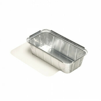 Aluminium maaltijdbak + ingelegd deksel, PE-gecoat 1000ml, verpakt per 30 stuks