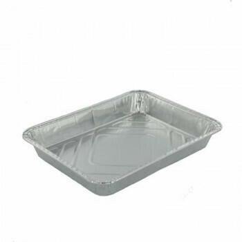 1-vaks Menuschaal laag, Aluminium | 22,7x17,8x3cm, verpakt per 1000 stuks