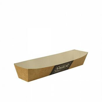 Snackbakje A16n karton (Good Food) | 18,5 cm x 3,5 cm x 3,3 cm. verpakt per 700 stuks