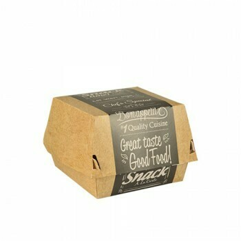 Hamburgerbox,  7 cm x 11 cm x 11,5 cm 'Good Food' groot, verpakt per 500 stuks