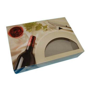 Cateringdoos (Bordeaux) | 35,7x24,7x8cm,Verpakt per 100 stuks
