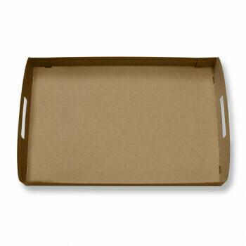 Kartonnen dienbladen / draagtrays (100% FAIR) | Voor cateringdoos maat M,Verpakt per 100 stuks