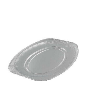 Aluminium cateringschaal ovaal 45x36cm, verpakt per 100 stuks