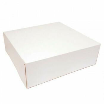 Gebaksdoos, Wit Karton | 25x25cm, verpakt per 125 stuks
