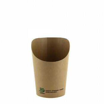 Scoop beker, Wrap Cups 8 oz (100% FAIR) | 230 ml 8 cm x 6 cm x 11,3 cm, verpakt per 1000 stuks