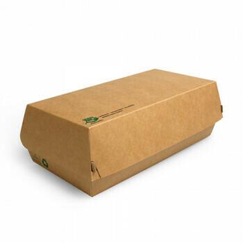 Snack/Brood boxen (100% FAIR) | 22 cm x 10,7 cm x 7,5 cm, verpakt per 175 stuks