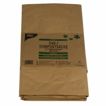 Compostzakken, 2 laags 240 l 115 cm x 80 cm x 30 cm bruin, verpakt per 20 stuks