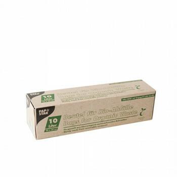 Compostzakken, bio-folie 10 liter 42 cm x 50 cm groen met handvatten, verpakt per 270 stuks