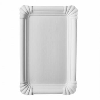 Schaaltjes, karton 'pure' plein 18 cm x 26 cm wit, Verpakt per 500 stuks