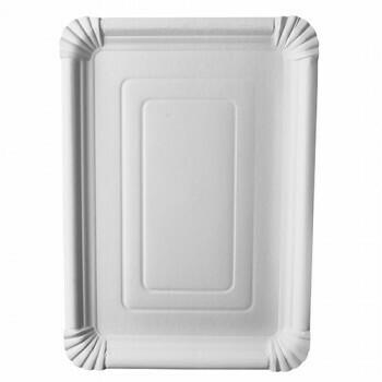 Schaaltjes, karton 'pure' plein 24 cm x 33 cm wit, Verpakt per 250 stuks