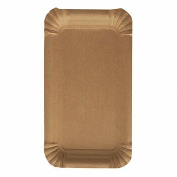 Schaaltjes, karton 'pure' rectangular 10 cm x 16 cm bruin, Verpakt per 1500 stuks