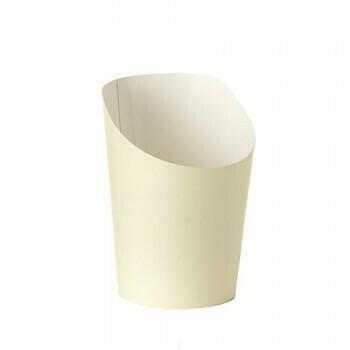 Snackbekers, karton 'To Go' 0,16 l Ø 7,5 cm · 9,9 cm beige, verpakt per 1500 stuks
