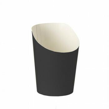 Snackbekers, karton 'To Go' 0,09 l Ø 7 cm · 9,5 cm zwart, verpakt per 1500 stuks