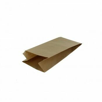 Inpakzak, Kraftapier   1 pond- 13x8x26cm, verpakt per 10 kg