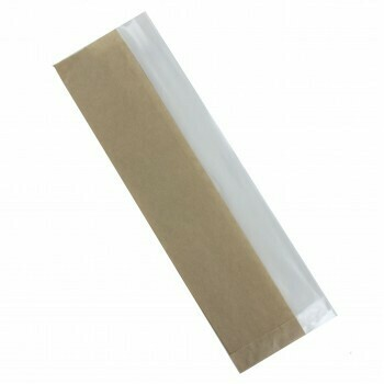 Broodzak (met venster), Papier   10,5/19x37cm, verpakt per 1500 stuks