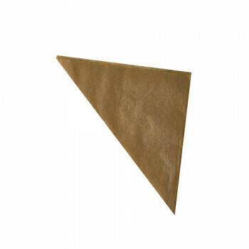 1000 Puntzakken, perkament papier 32,5 cm x 23 cm x 23 cm bruin Vulcapaciteit 250 g, vetvrij, verpakt per 1000 stuks