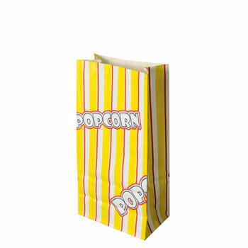 Popcorn zak, Ersatz papier 1,3 l 20,5 cm x 10,5 cm x 6 cm 'Popcorn' vetwerend, verpakt per 1000 stuks