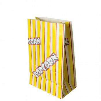 Popcorn zak, Ersatz papier 2,5 l 22 cm x 14 cm x 8 cm 'Popcorn' vetwerend, verpakt per 1000 stuks