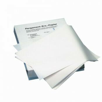 Ersatzpapier,  37,5 cm x 25 cm wit, vetvrij, verpakt per 12,5kg