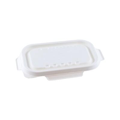 Bagasse deksel wit voor maaltijdbak 500ml/650ml Verpakt per 125 stuks