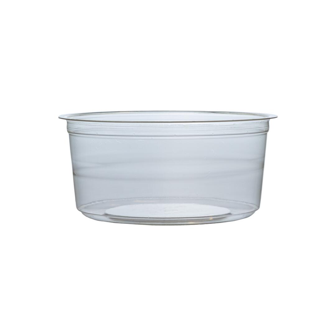 PLA container 360ml/11,5cm Ø x 5cm hoog, verpakt per 50 stuks
