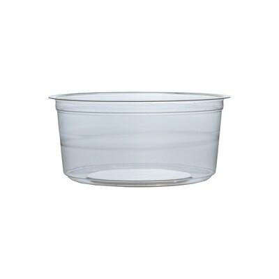 PLA konteineris 360 ml / 11,5 cm Ø x 5 cm aukščio, supakuotas po 50 vienetų