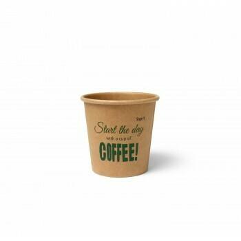 Koffiebeker (Silly Times) karton | 118ml/4oz, verpakt per 1000 stuks.