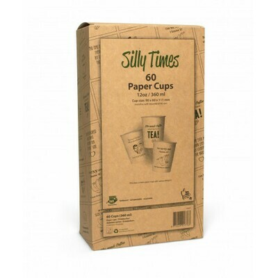 Koffiebeker (Silly Times) karton | 355ml/12oz, verpakt per 60 stuks in displaydoos.