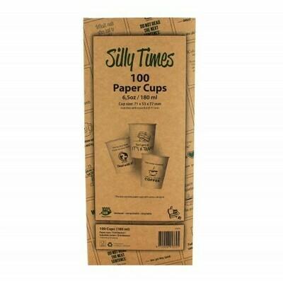 Koffiebeker (Silly Times) karton | 177ml/6oz, verpakt per 100 stuks in displaydoos.