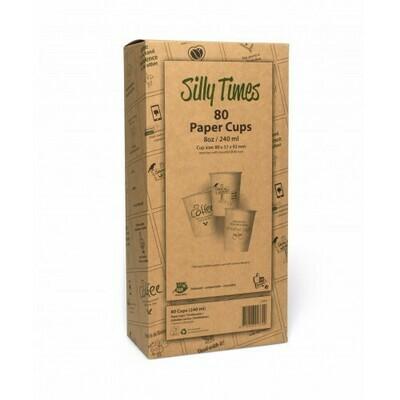 Koffiebeker (Silly Times) karton | 237ml/8oz, verpakt per 80 stuks in displaydoos.