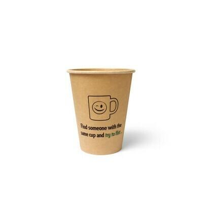 Koffiebeker (Silly Times) karton | 355ml/12oz, verpakt per 1000 stuks.