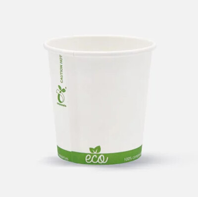 Eco beker BIO 4oz/120ml, verpakt per 1000 stuks