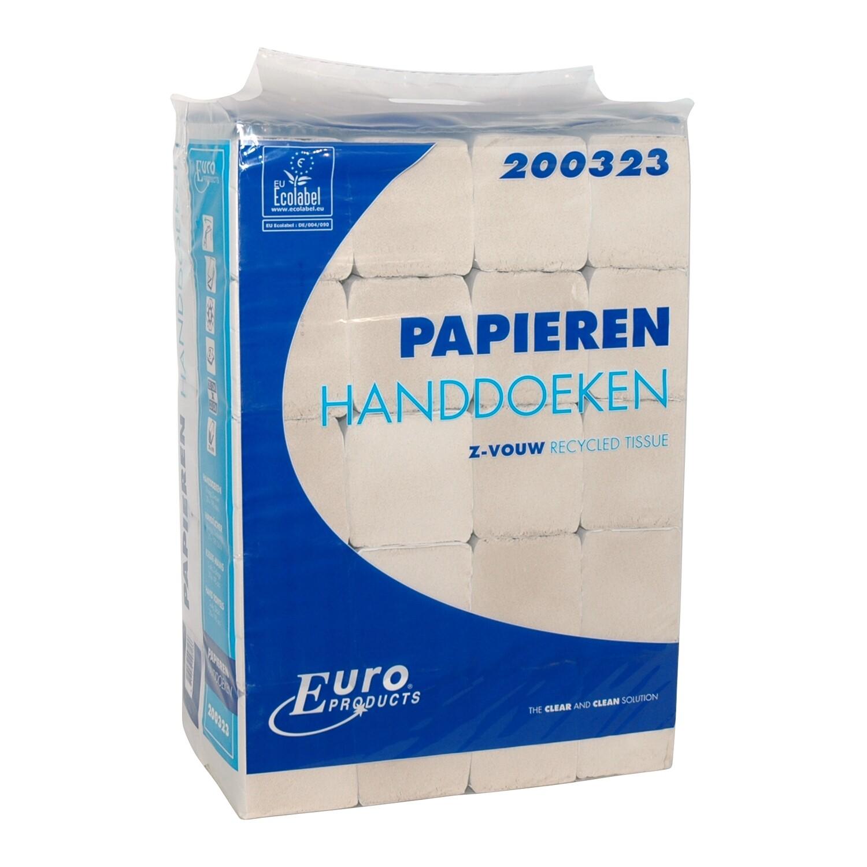 200323 Z-fold, Euro recycled tissue (Easy bag), verpakt per 20 bundels
