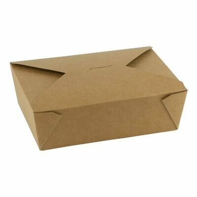FSC® kraft/PLA take away box 1800ml/197x140x65mm, verpakt per 200 stuks
