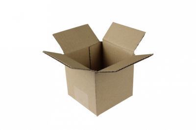 Verzenddoosje mini 12,5x12,5x13cm, verpakt per 30 stuks