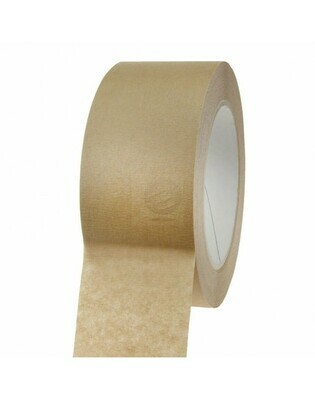 Papiertape 50/50 Bruin, 120my zelfklevend, verpakt per 4 rollen