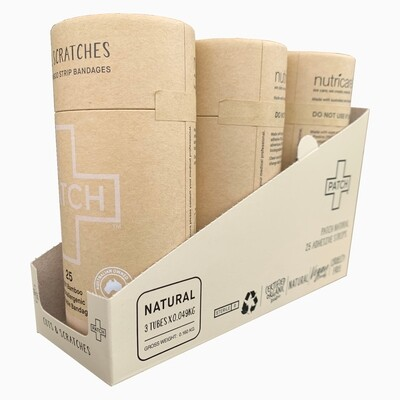 Patch pleisters Natural Bamboe, hypoallergeen, 3x25 stuks in SRP doosje