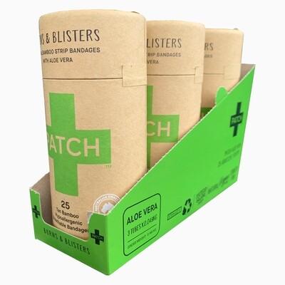 Patch pleisters Aloe Vera Bamboe, hypoallergeen, 3x25 stuks in SRP doosje